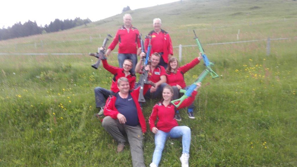 Die erfolgreiche Gruppe am Kantonalfinal 2015